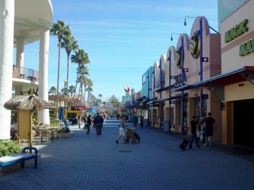 Walking through Downtown Disney's West End