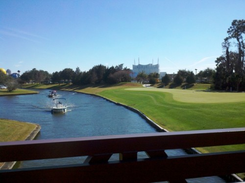 Saratoga Springs golf course bridge view