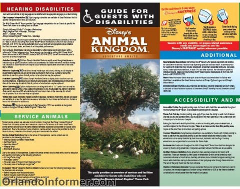 Disney's Animal Kingdom: Guide for guests with disabilities.