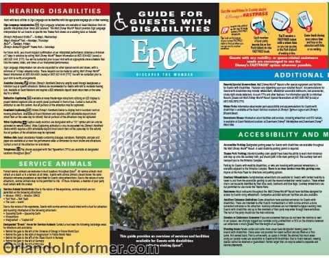 Epcot: Guide for guests with disabilities.