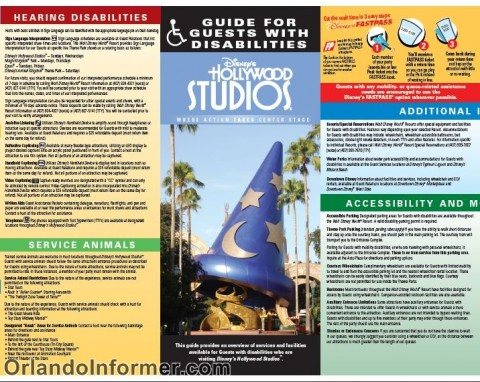 Disney's Hollywood Studios: Guide for guests with disabilities.