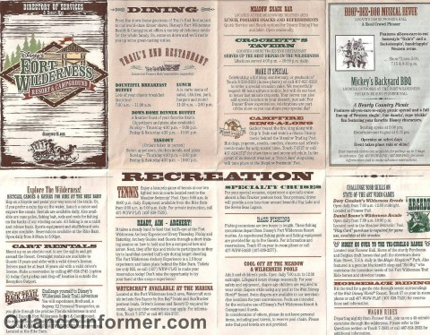 Disney's Fort Wilderness recreation map - March 2011.