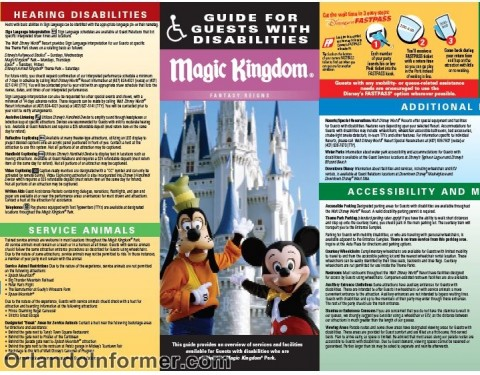 Magic Kingdom: Guide for guests with disabilities.