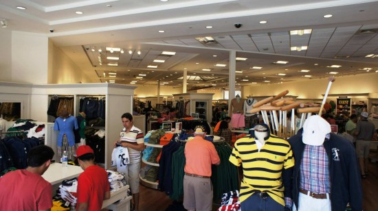 Orlando Premium Outlets Vineland Ave: Inside the Polo Ralph Lauren store.