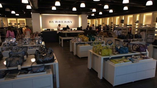 Orlando Premium Outlets Vineland Ave: Inside the Burberry store.