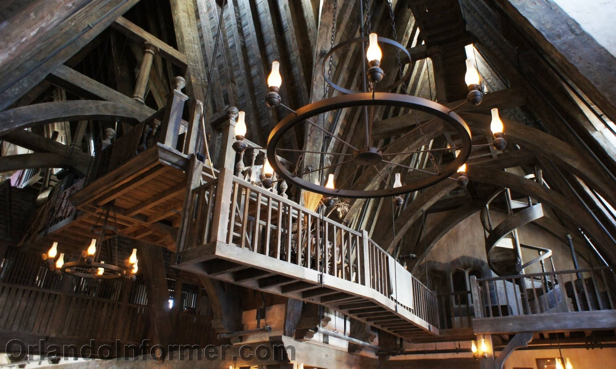 Three Broomsticks: Interior photos.