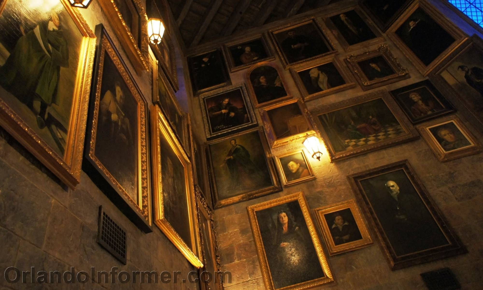 """The Harry Potter castle """"tour only"""" talking portrait room."""