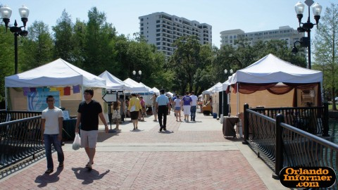 Orlando's Farmers Market at Lake Eola: Vender Avenue.