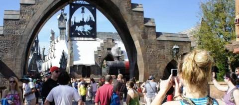 Enter the Wizarding World of Harry Potter at Universal Orlando Resort.