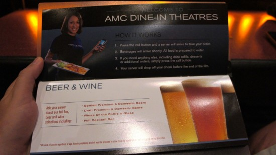 AMC Fork & Screen at Downtown Disney: How it works.