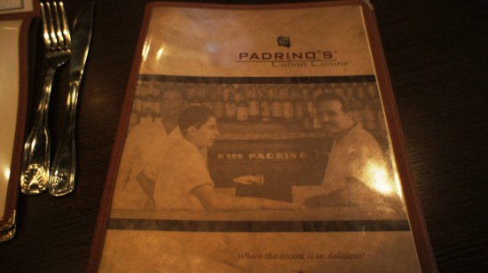Padrino's Cuban Bistro: The menu.
