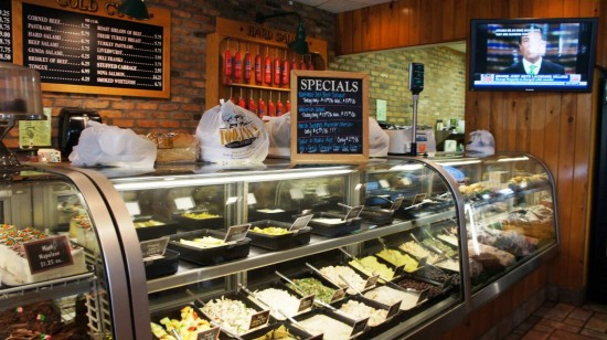 TooJay's Original Gourmet Deli: To-go counter.