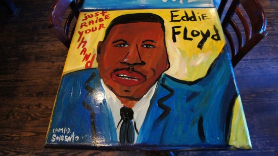 BB King's Blues Club at Pointe Orlando: Table art.