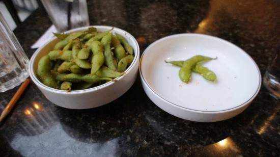 Seito Sushi in the Town of Celebration: Edamame.