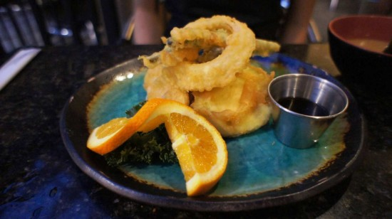 Seito Sushi in the Town of Celebration: Vegetable Tempura.