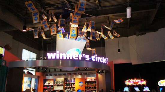 Dave & Busters Orlando on International Drive: Winner's Circle.