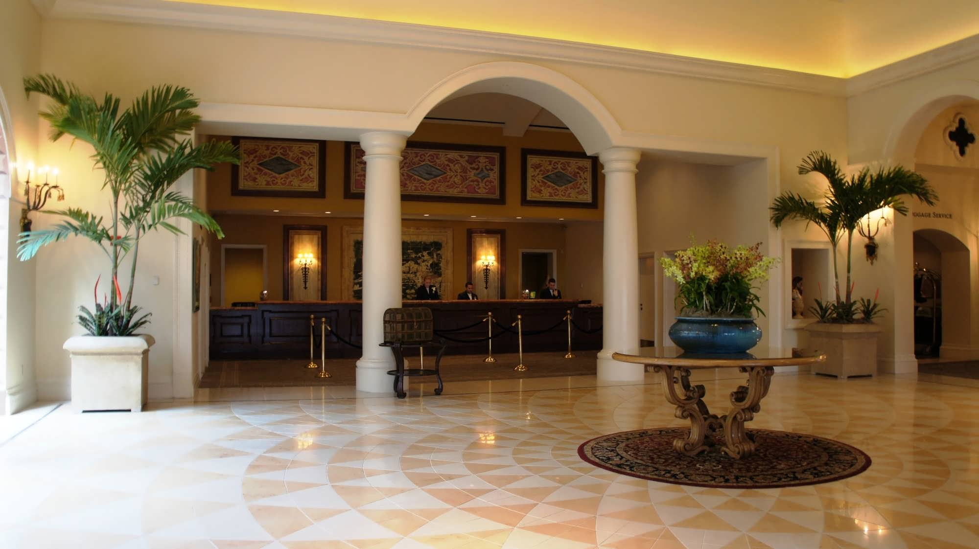 Portofino Bay Hotel Front Desk and lobby area