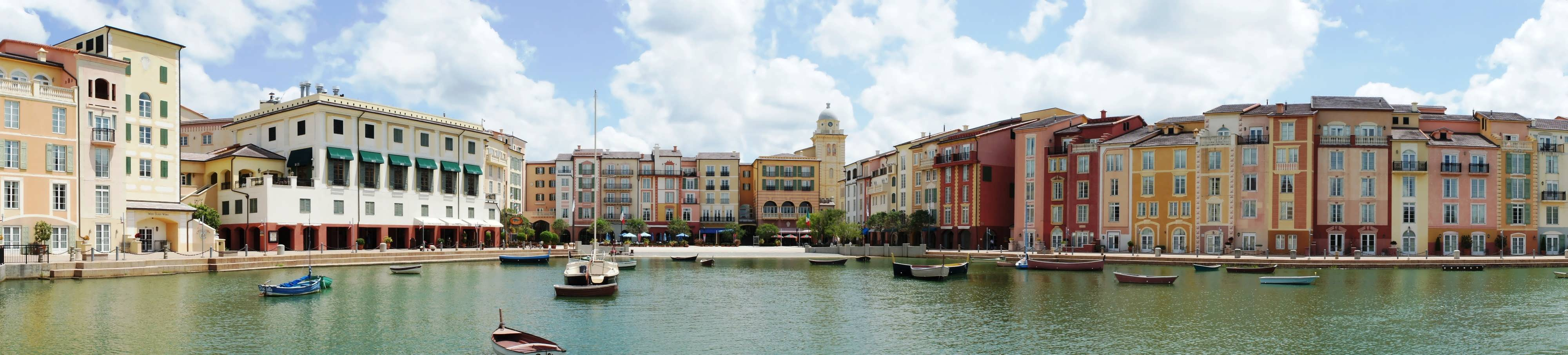 Portofino Bay Hotel Harbor Piazza panorama