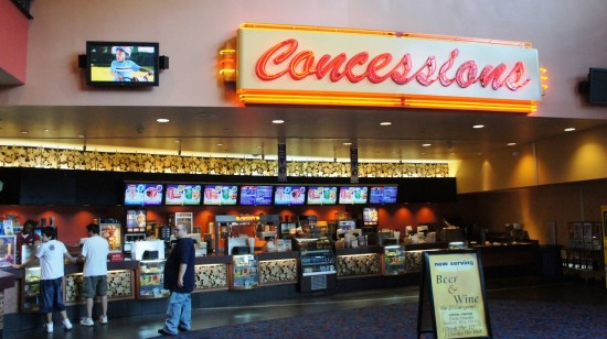 Regal Pointe Orlando Stadium & IMAX on International Drive: The concession stand.