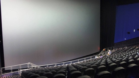 Regal Pointe Orlando Stadium & IMAX on International Drive: The five story high IMAX screen.