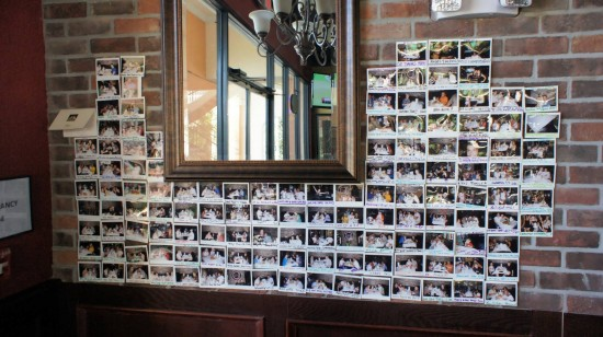 Hot 'n Juicy Crawfish Restaurant in Orlando: Wall of photos.