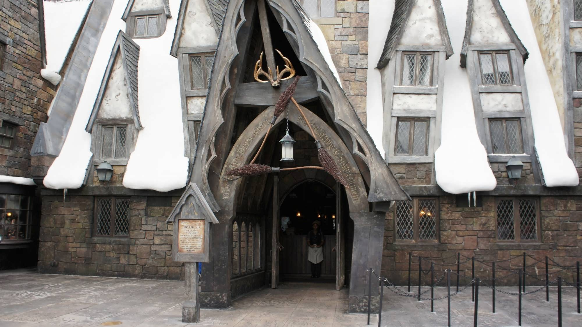 Three Broomsticks at the Wizarding World of Harry Potter – Hogsmeade.