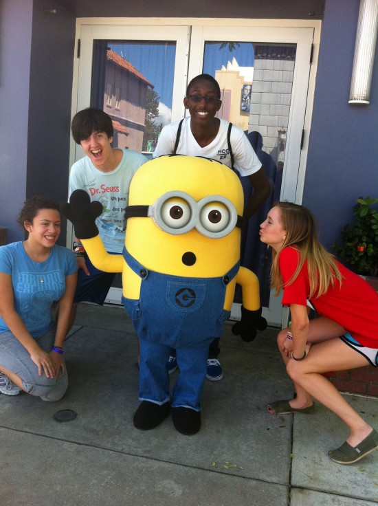Rock the Universe at Universal Studios Florida: Me, my friends, and a minion.