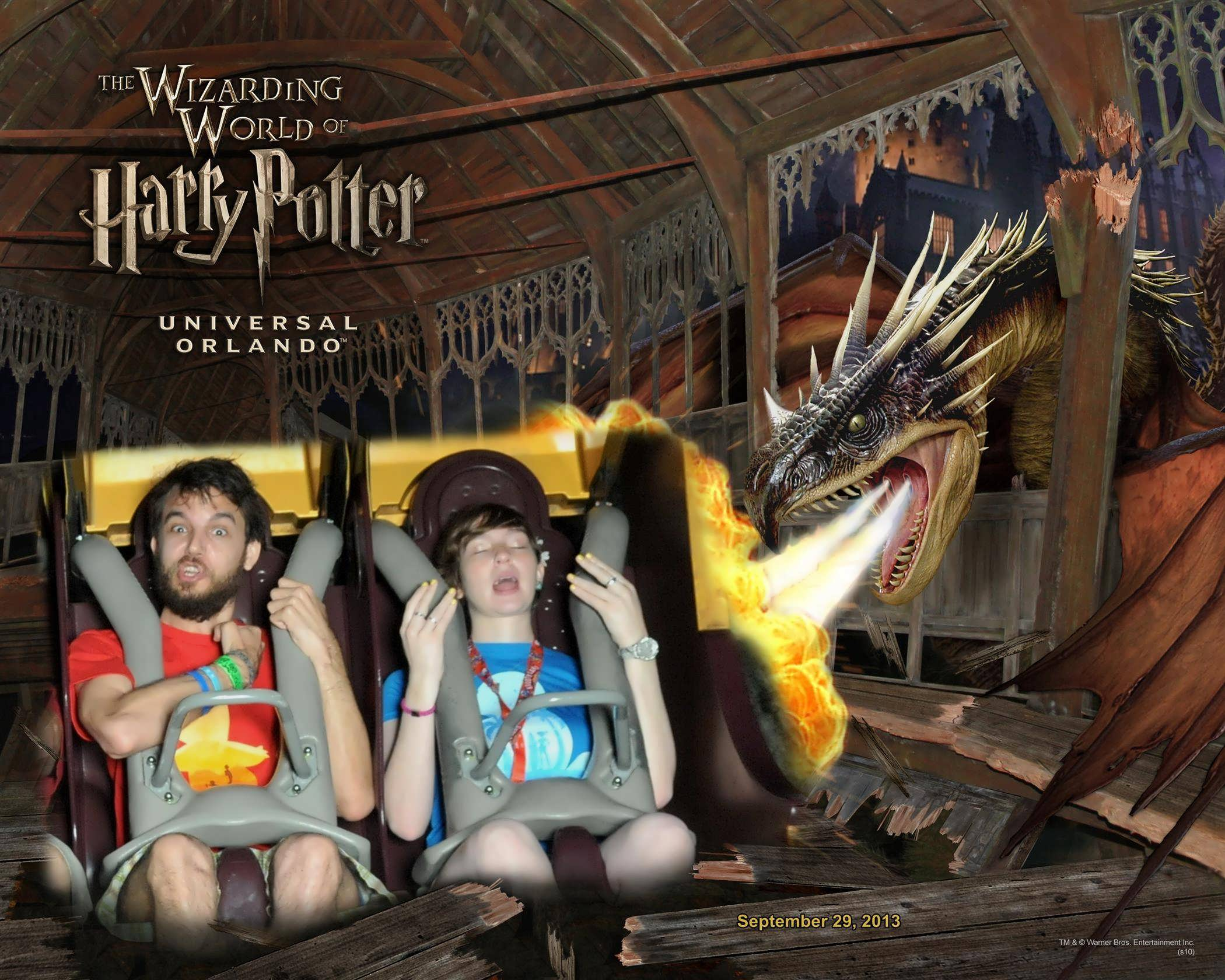 Stephanie & Brandon – souvenir Universal Orlando photo.