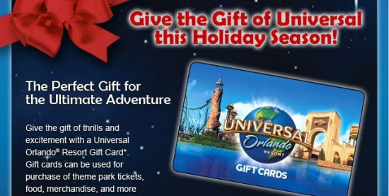 Universal Orlando gift card email
