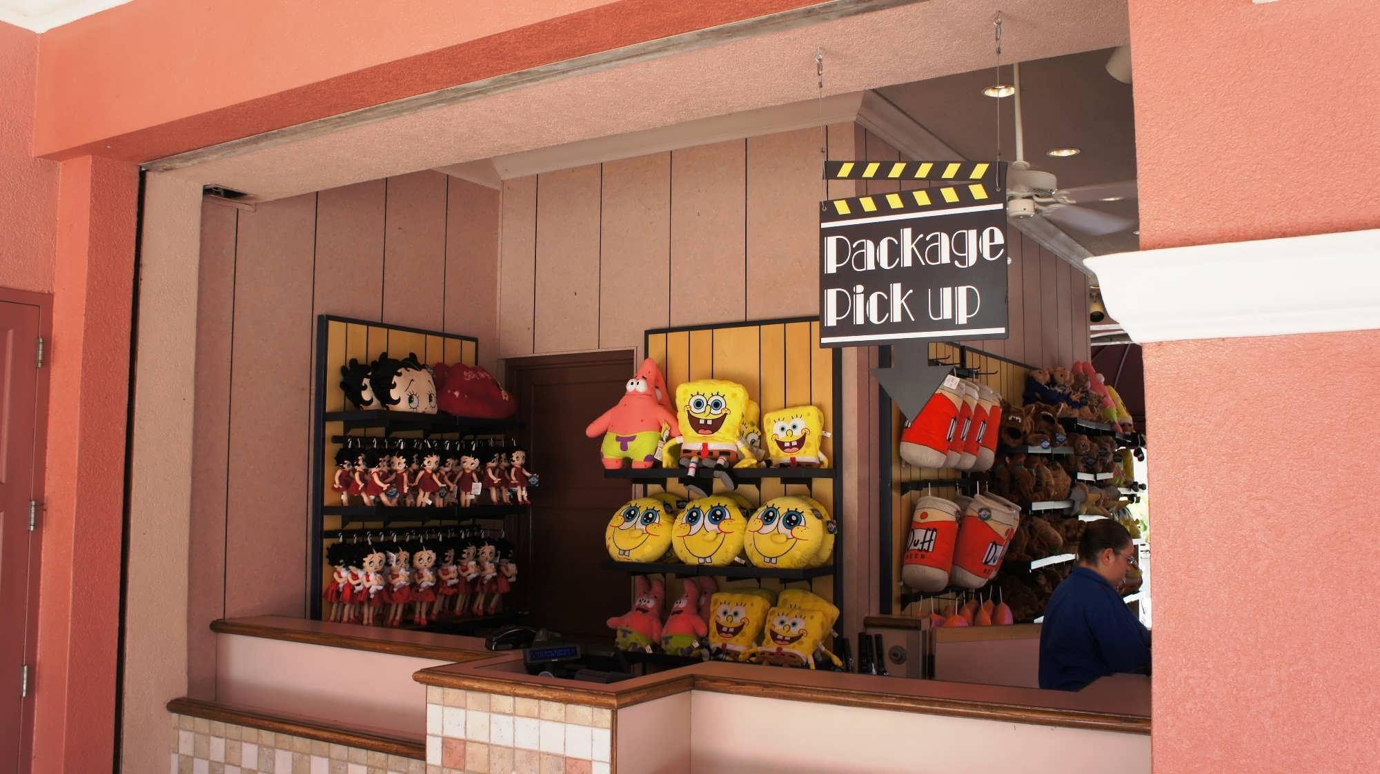 Package pick-up window – Universal Studios Florida.