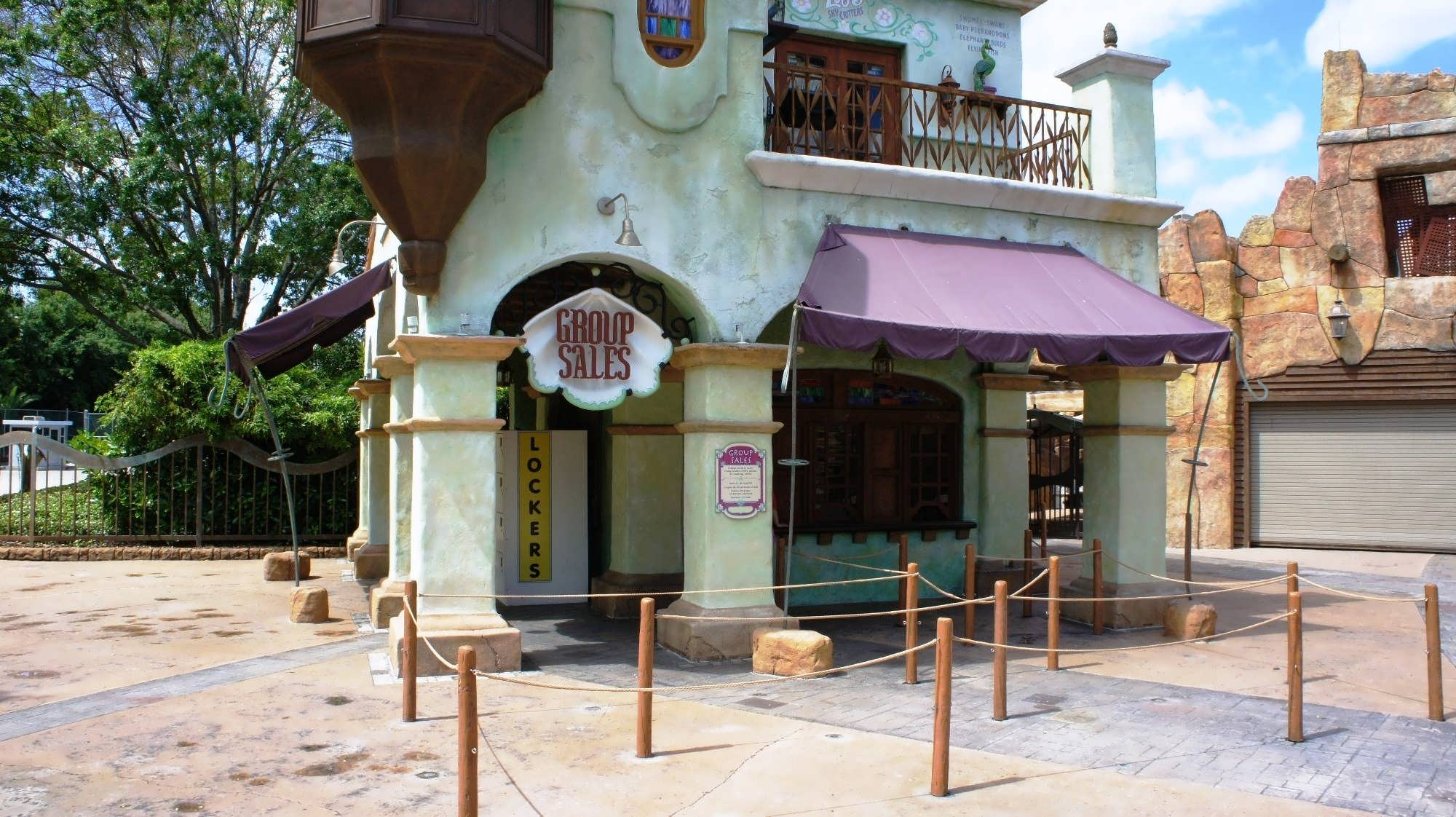 IOA lockers – Set 6. Outside the park, to the far left of the entrance.