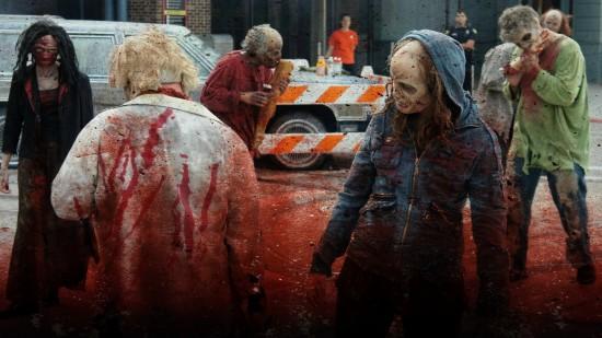 Walkers at Halloween Horror Nights 2012.