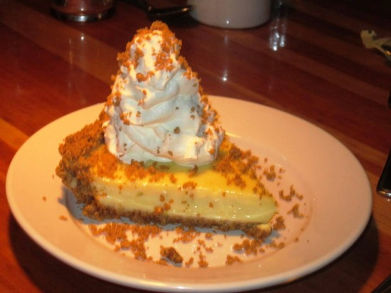 Key Lime Pie with housemade whipped cream.