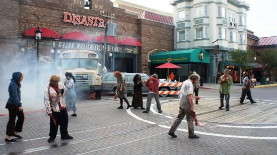 Walkers roam free during Halloween Horror Nights 2012.