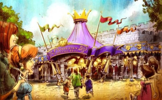 Artist rendering of Princess Fairytale Hall.