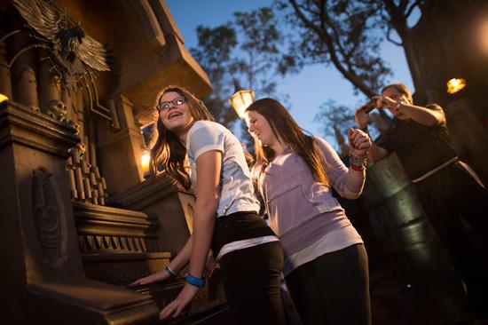 Haunted Mansion interactive queue.