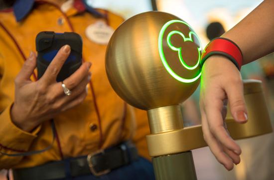 MyMagic+ MagicBand at Walt Disney World.