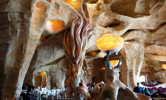 A glimpse inside Mythos at Islands of Adventure.