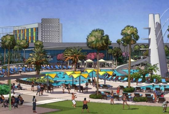 Cabana Bay Beach Resort: North Courtyard pool area.