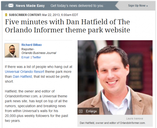 Dan Hatfield featured in the Orlando Business Journal.