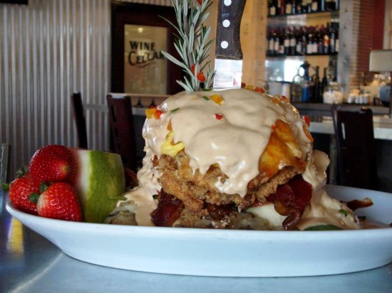 Hash House A Go Go restaurant in Orlando: Sage Fried Chicken Benedict.