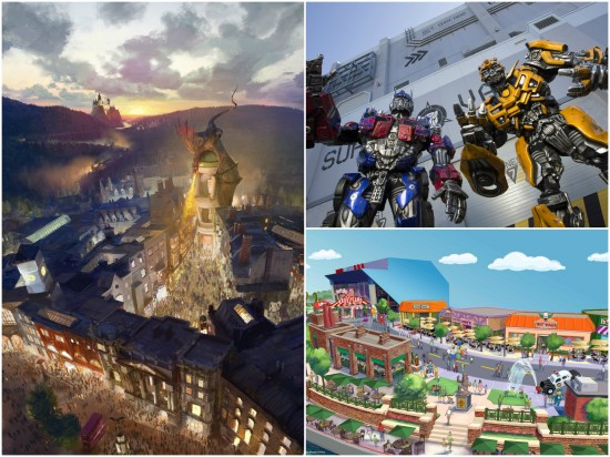 Diagon Alley + Transformers + Springfield = trifecta.