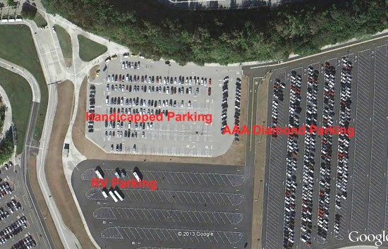 Handicapped parking at Disney's Animal Kingdom.