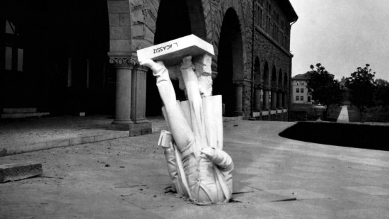 Louis Agassiz Statue after the San Francisco earthquake.