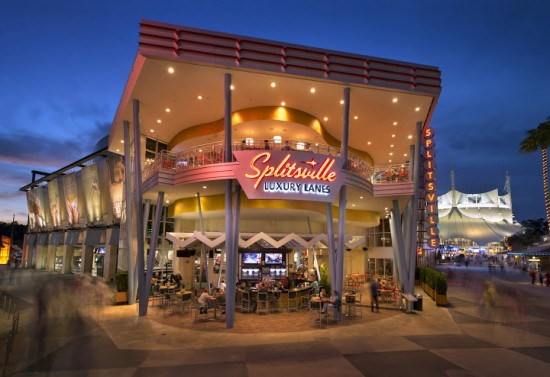 Splitsville at Downtown Disney.