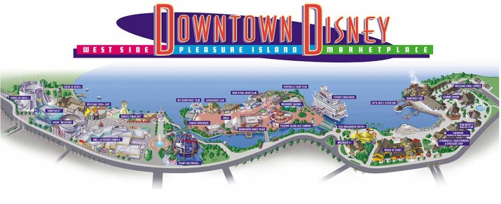 Downtown Disney, circa 1997.
