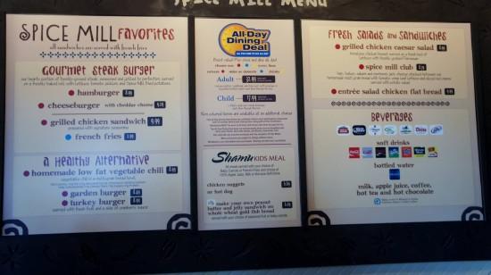 Saving money while eating at SeaWorld.
