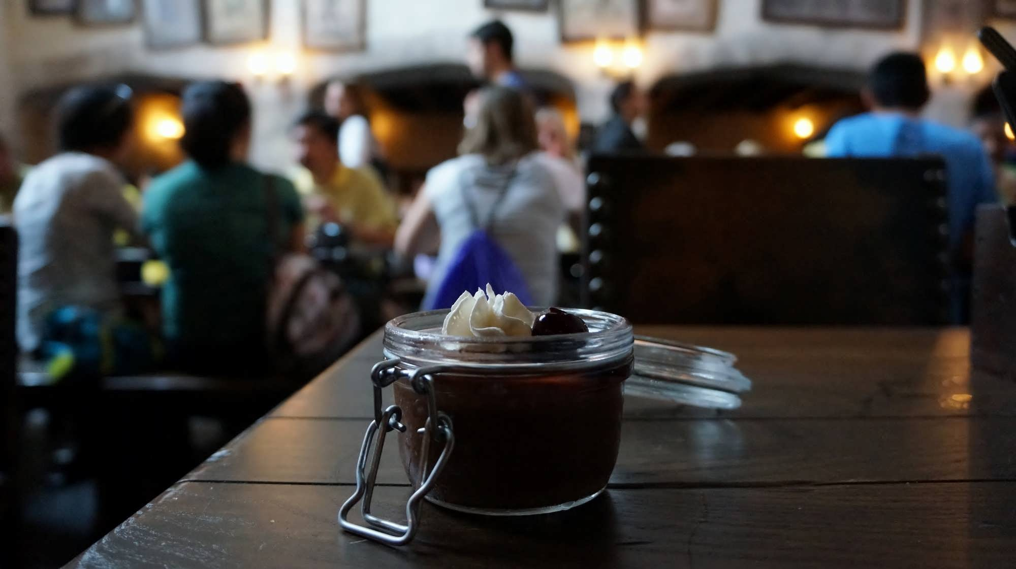 Potted Cream at the Leaky Cauldron