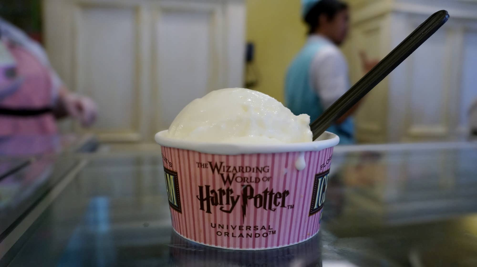Hand-scooped ice cream at Florean Fortescue's Ice-Cream Parlor