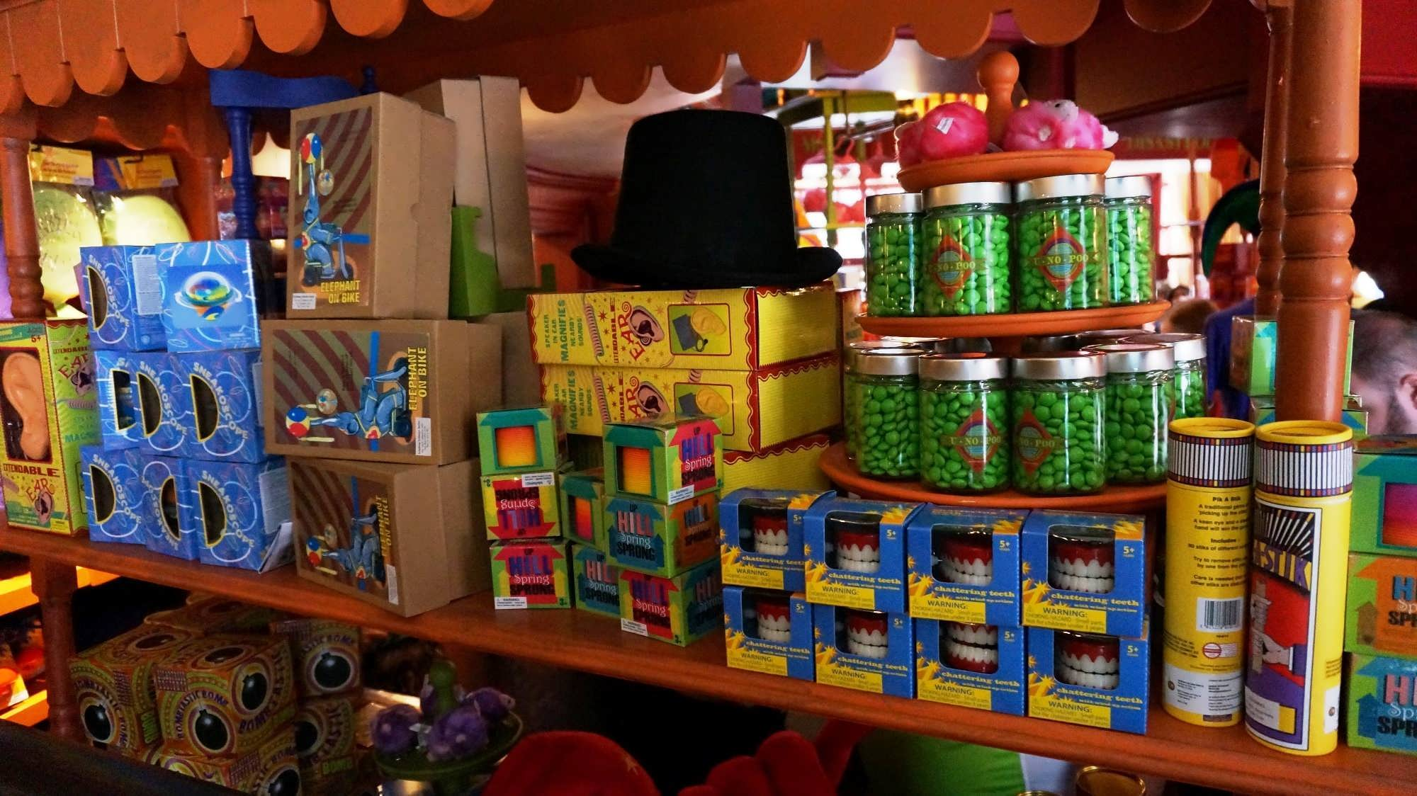 Weasleys' Wizard Wheezes merchandise at the Wizarding World of Harry Potter - Diagon Alley